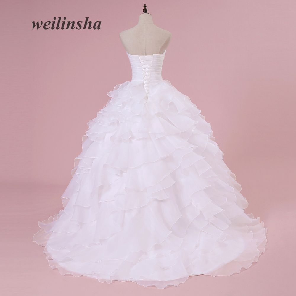 Top vestidos de noiva Ivory Or White Ruffles Beading Sweetheart ...