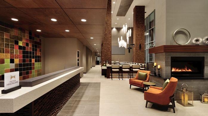 Hilton Garden Inn Calgary Downtown Hotel CA Lobby Area