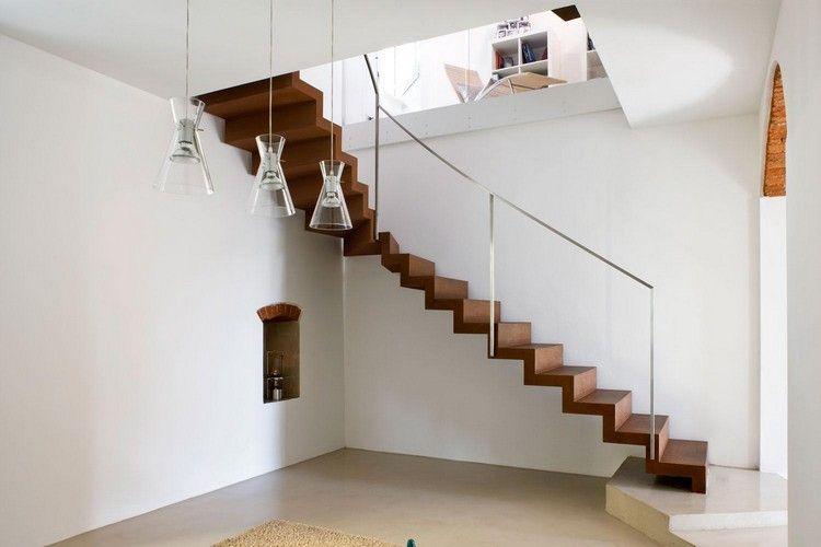 Matérialité  élégance Garten Pinterest - cortenstahl innenbereich ideen