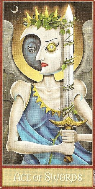 Deviant Moon Tarot- Ace of swords by 78Whispers, via Flickr    https://www.facebook.com/78Whispers