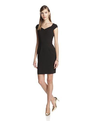 Marc New York Women's Seamed Cap Sleeve Dress (Black)