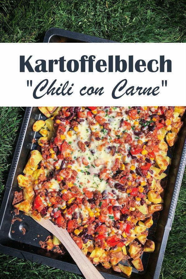 Kartoffelblech Chili con Carne.