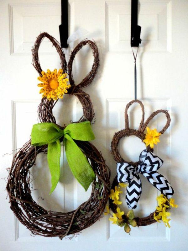 osterkranz selber basteln kreative bastelideen osterhase zweige 101 eastern eggs eastern. Black Bedroom Furniture Sets. Home Design Ideas