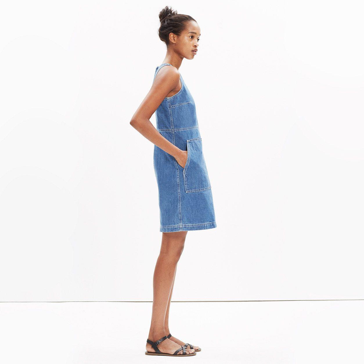 7814bd53bd6 Denim Utility Shift Dress   dresses   skirts