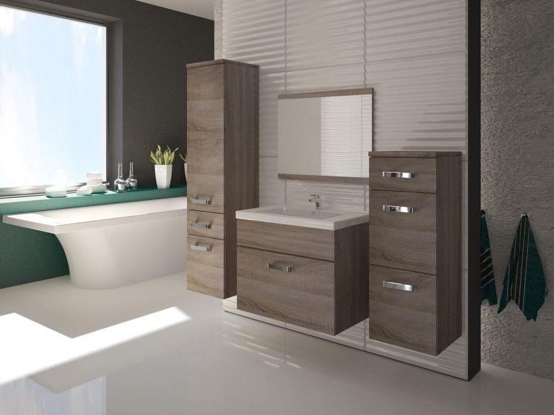 Badezimmermöbel Ebay ~ Details zu badmÖbel set badezimmer 5tlg. sonoma eiche trÜffel neu