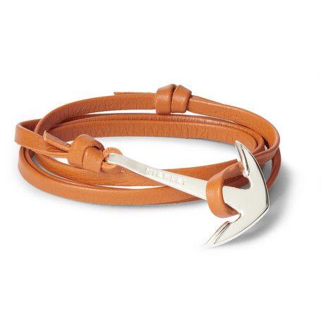 7f1b5c68fc44 Miansai Leather And Metal Anchor Wrap Bracelet