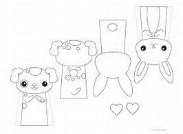 Image result for Animal Paper Finger Puppet Patterns