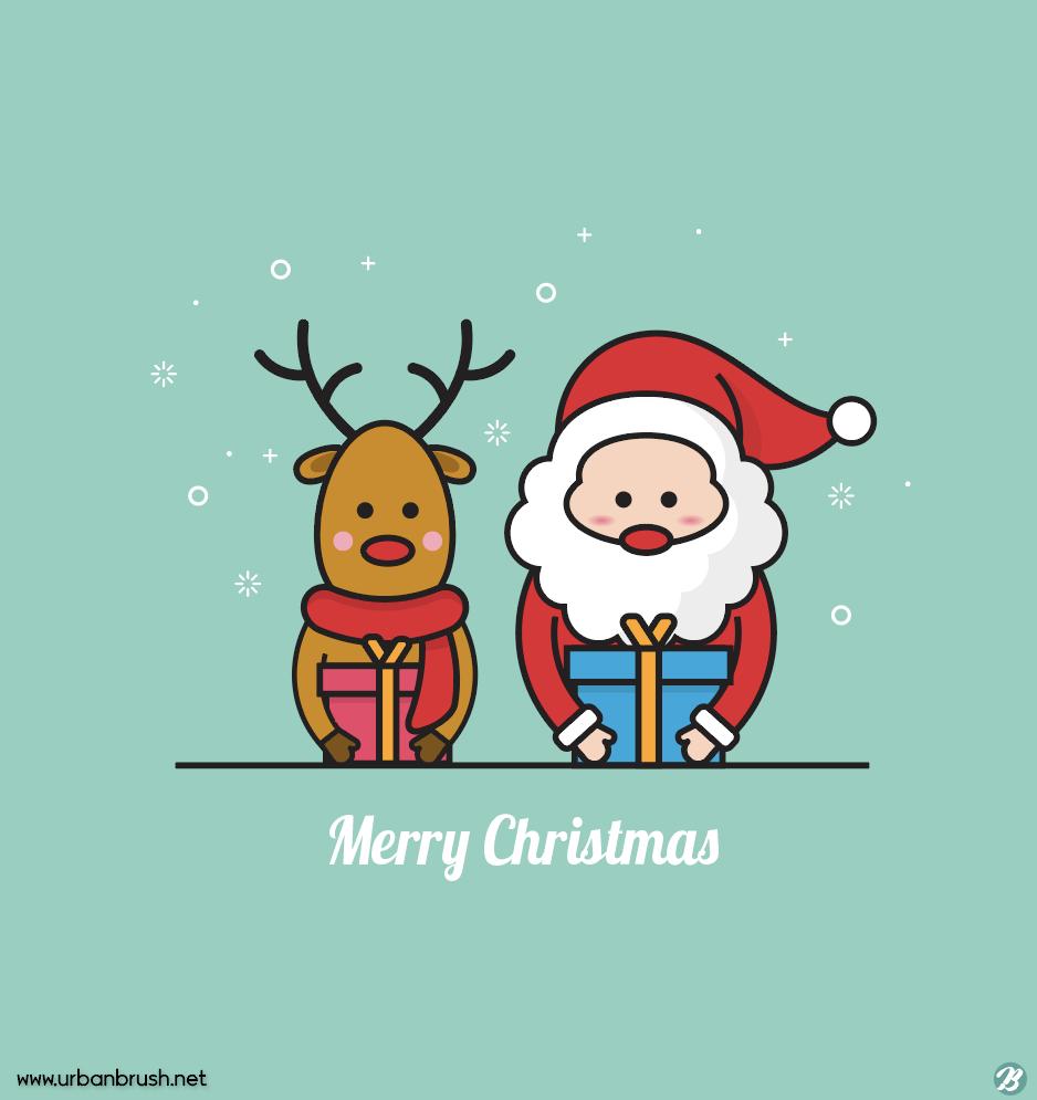 산타와 루돌프 일러스트 Ai 무료다운로드 Free Santa And Rudolph Vector 크리스마스 카드 할로윈 카드 크리스마스 이미지