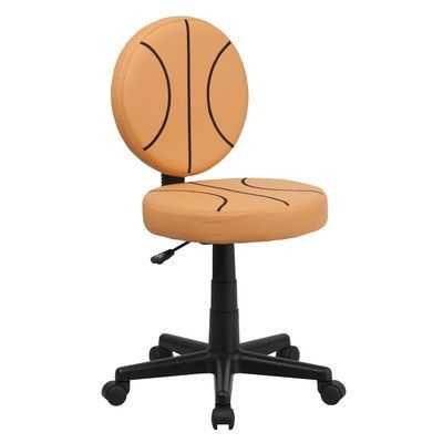 Flash Furniture Basketball Mid-Back Kids Desk Chair Arms Not