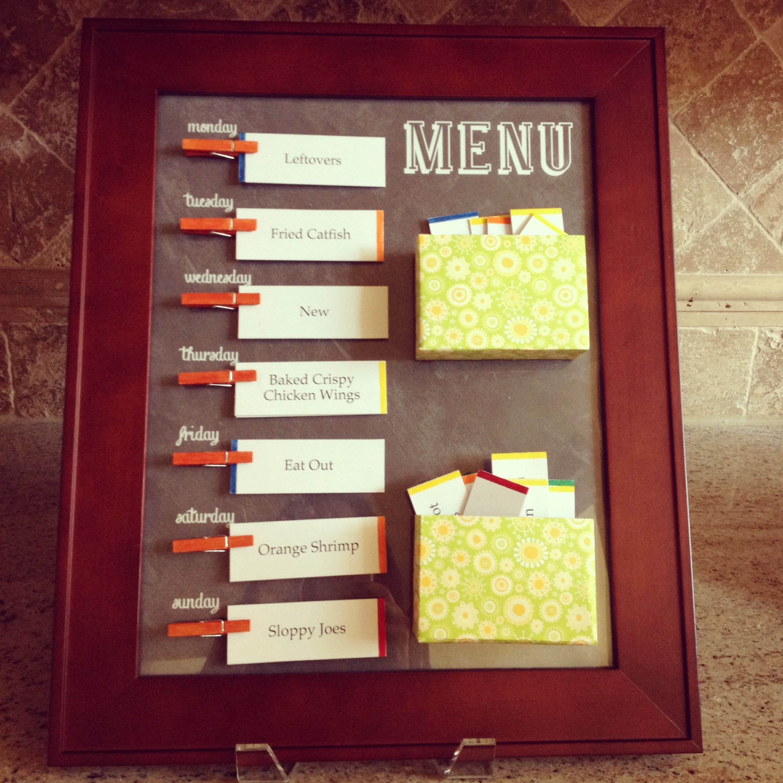 Menu Board. Made by SoKnitpicky. Customized printable