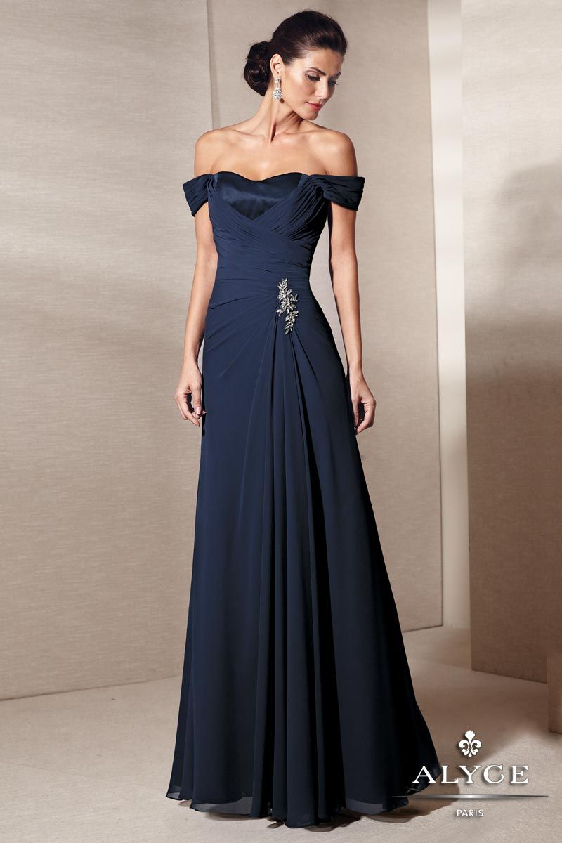 Simple Evening Gowns | Off The Shoulder Evening Gown | Bridesmaid ...