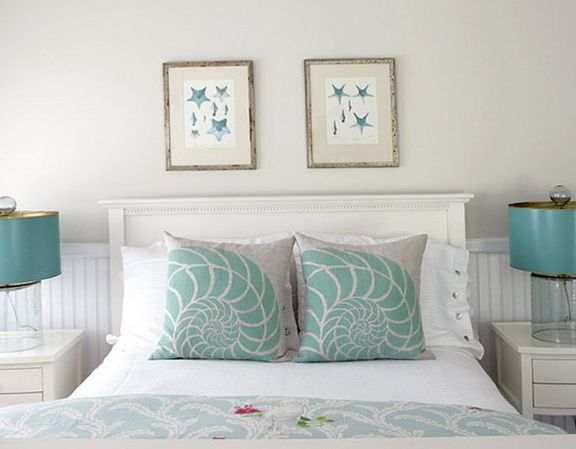 Picture 4087 40 habitaciones incre bles en color turquesa for Dormitorio azul turquesa