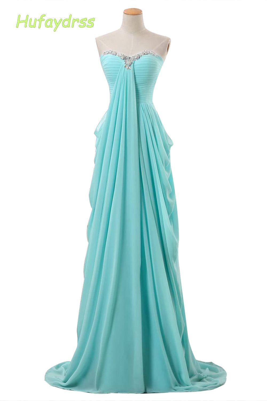 Click to Buy << Mint Green Bridesmaid Dresses 2017 Simple Floor ...