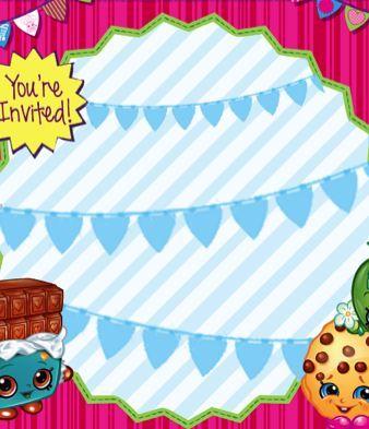 FREE Shopkins Birthday Party Invitation Printable File