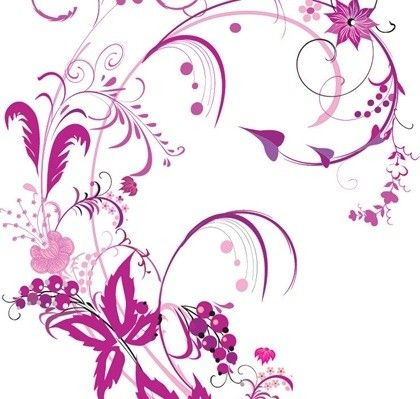 Free Vector Graphic Purple Swirls And Flowers Vector Flowers Flower Graphic Floral Pattern Vector