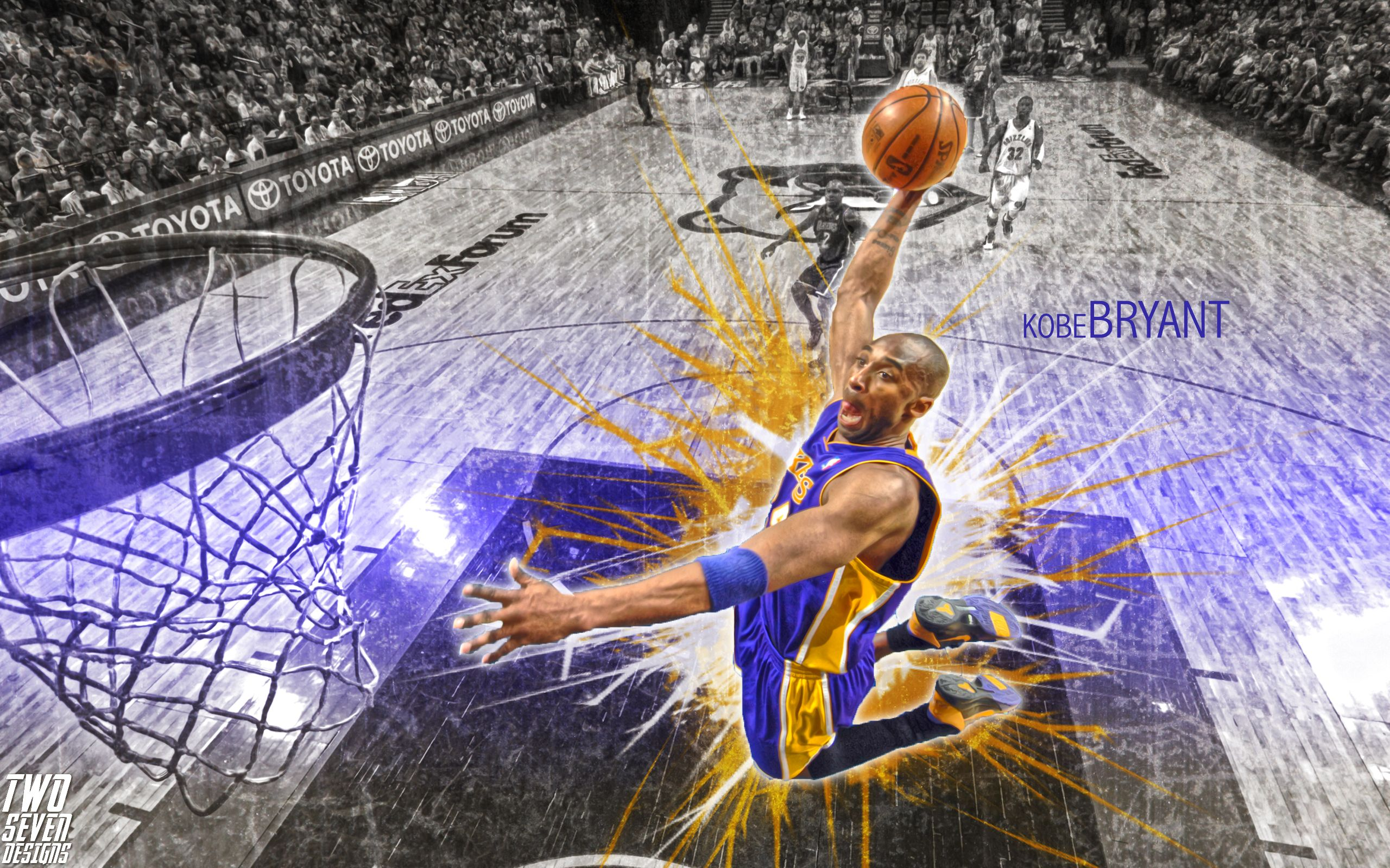 Kobe Bryant Dunk Wallpaper CT21 Kobe bryant dunk, Kobe