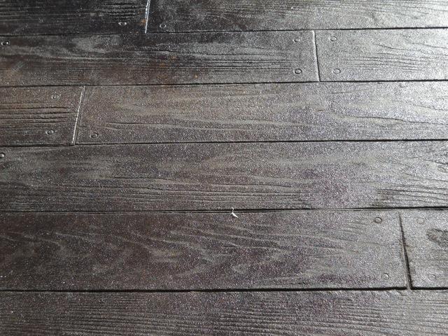 Stamped Concrete Wood Plank Walnut Decorating Ideas