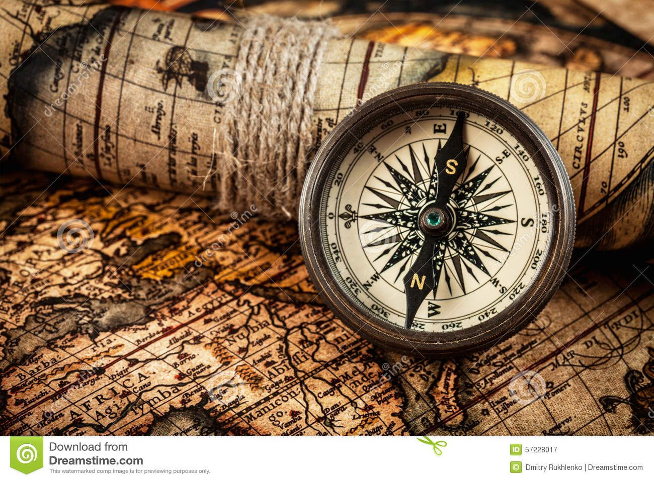 Old vintage compass ancient map travel geography navigation concept old vintage compass ancient map travel geography navigation gumiabroncs Image collections