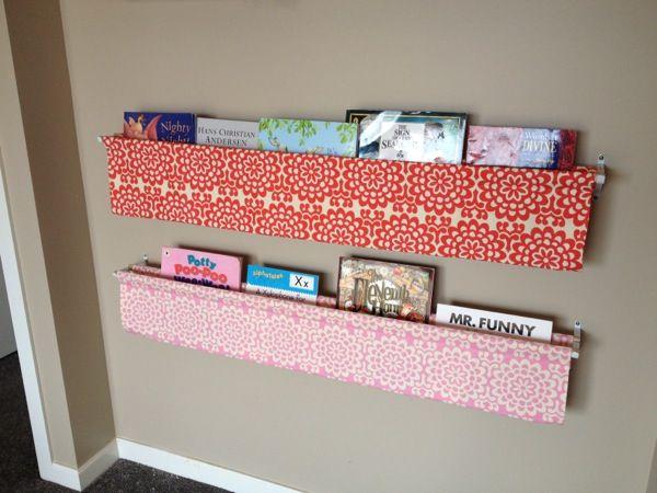 Bookshelves DIY Sling Book Display Ideas Tutorial On Sewing