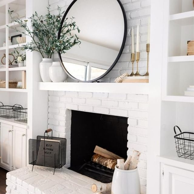 Angelle Marix #whitebrickfireplace