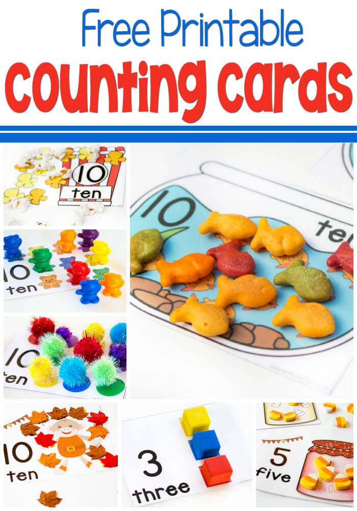 Free Printable Counting Cards For Numbers 1 10 Innovative Ideas