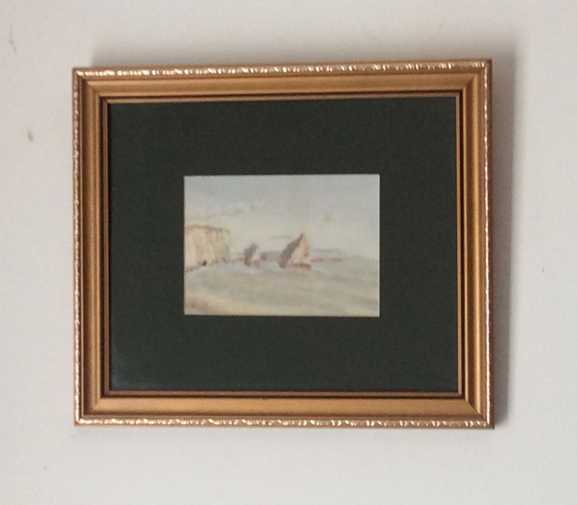 A Lovely Watercolour Signed On The Back E Tighe September 1866 Watercolour Is 17 By 12 Cms Approximately And Is Mounted In A 12 By Watercolor Painting Frame