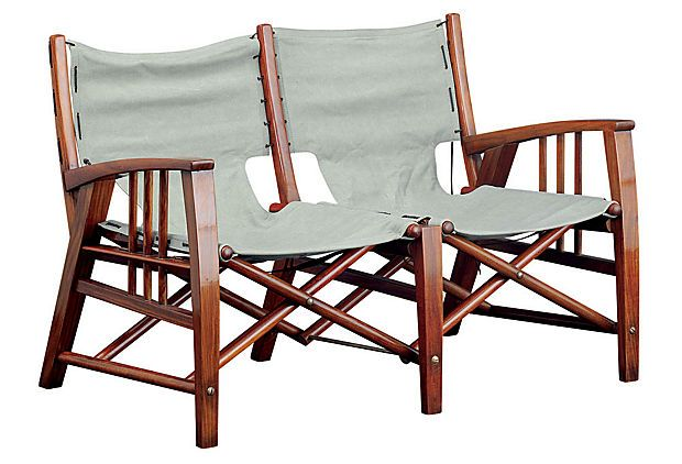 double seat folding chair french occasional havana on onekingslane com for the home