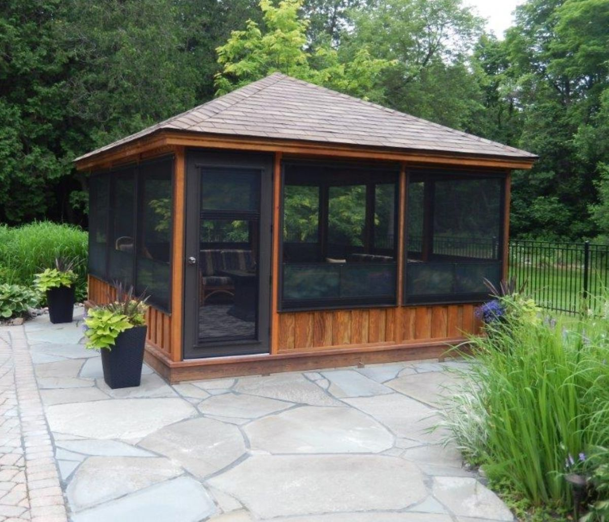 Screened Gazebo Kits Plan Ideas