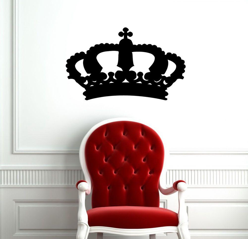 Pin By Karen Crawn On Home Decor: King Crown Queen Abstract Design Cute Wall Vinyl Sticker