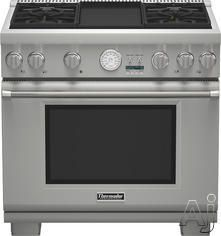 Thermador Prg364jdg 36 Inch Pro Style Gas Range With 4 Sealed Star Burners 5 7 Cu Ft Convection Oven 22 000 Btu Power Burner Extralow Simmer Burners Elect Thermador Thermador Kitchen Dual Fuel Ranges