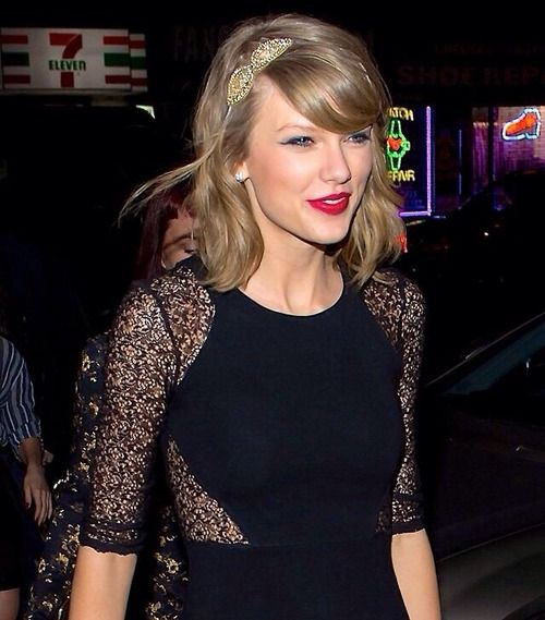 Taylor arrives at the SNL after party at Il Bastardo in New York