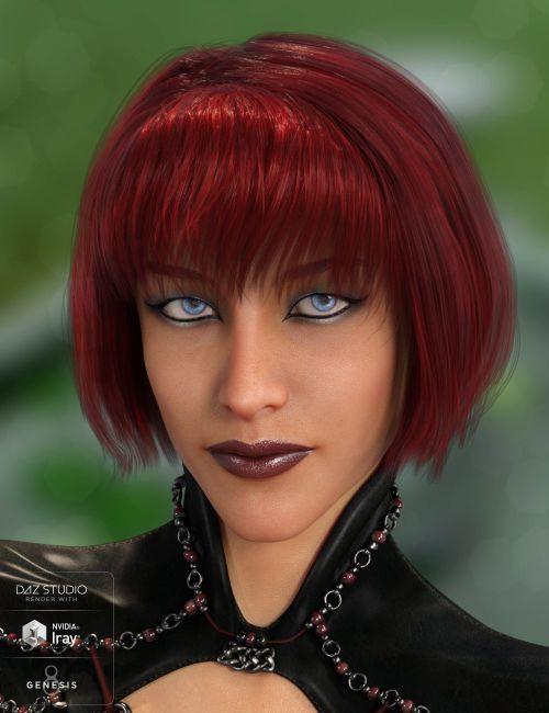 Swizzle Bob Hair for Genesis 8 Female(s)   Daz Studio