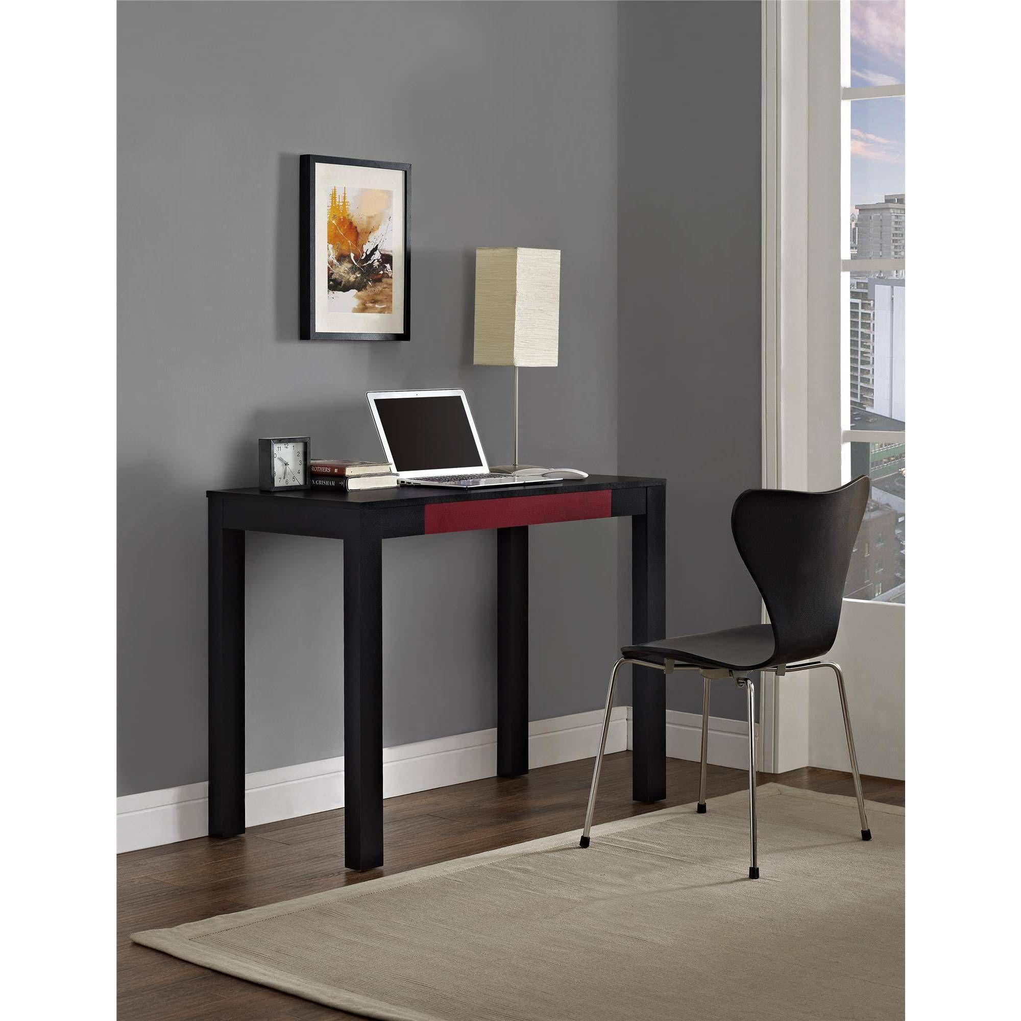 Ameriwood Home Glyndon Computer Desk With Drawer Blue Walmart Com Desk With Drawers Parsons Desk Desk