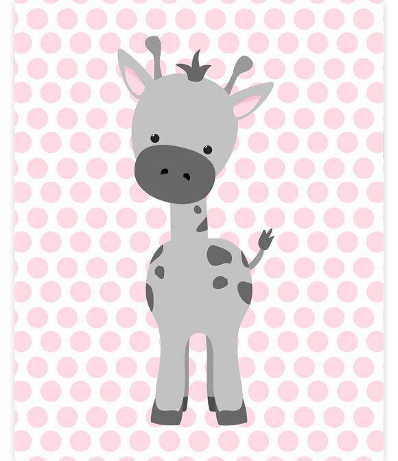 Giraffe Nursery Art Baby Zoo Decor
