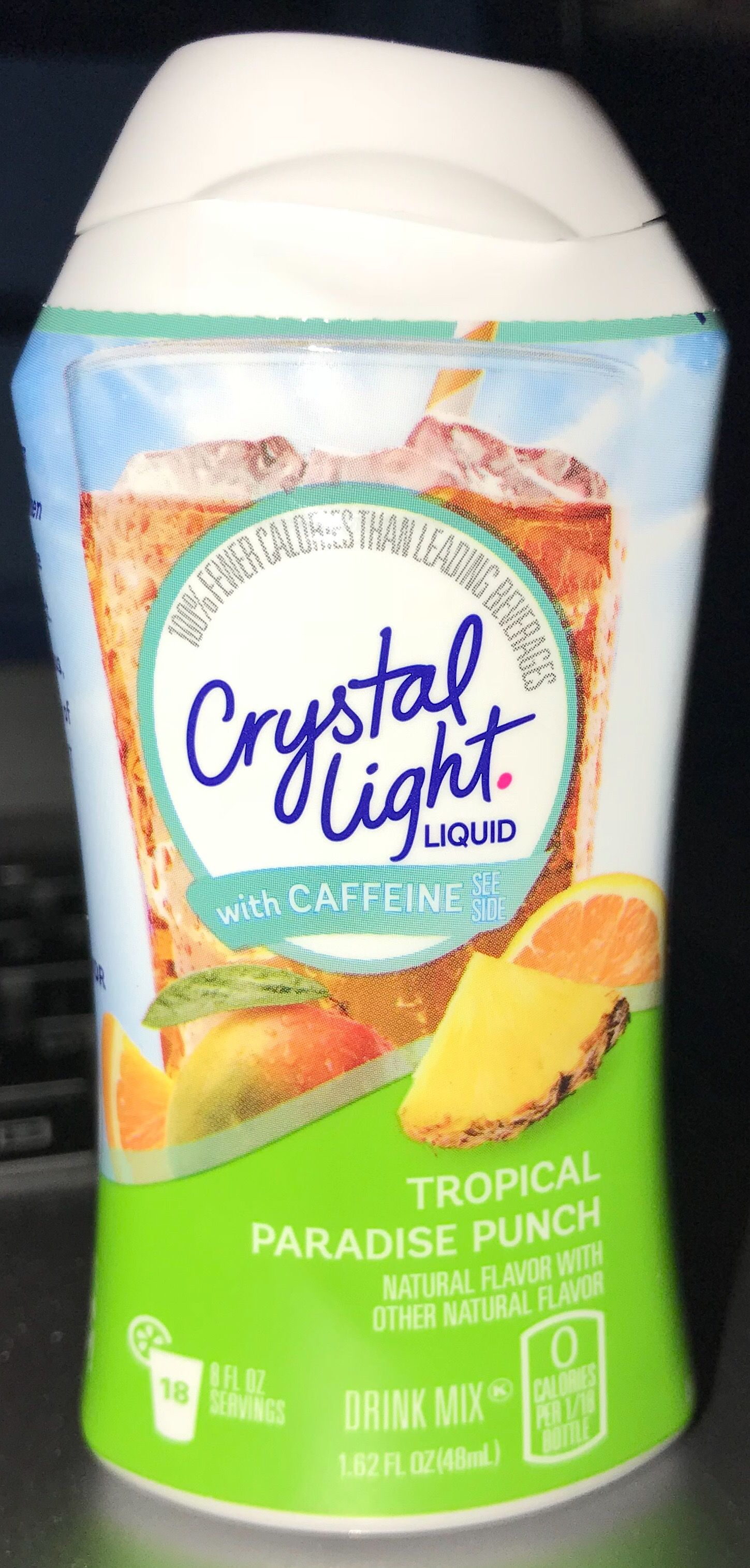 Crystal Light Liquid With Caffeine Tropical Paradise Punch Drink Mix Punch Drinks Mixed Drinks Natural Flavors
