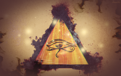 Triangle Eye Abstract Wallpaper Artistic Other