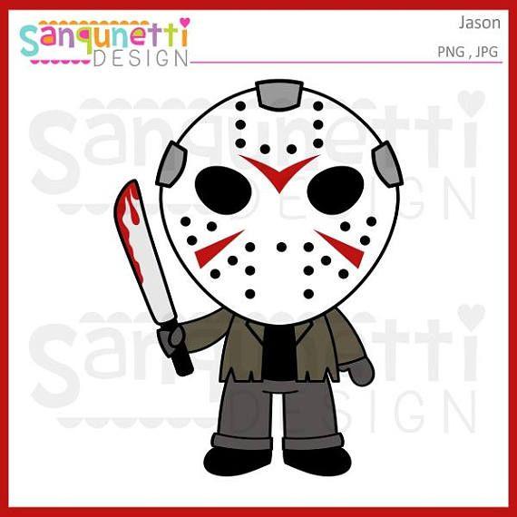 Jason Clipart Halloween Horror Character Digital Art Instant