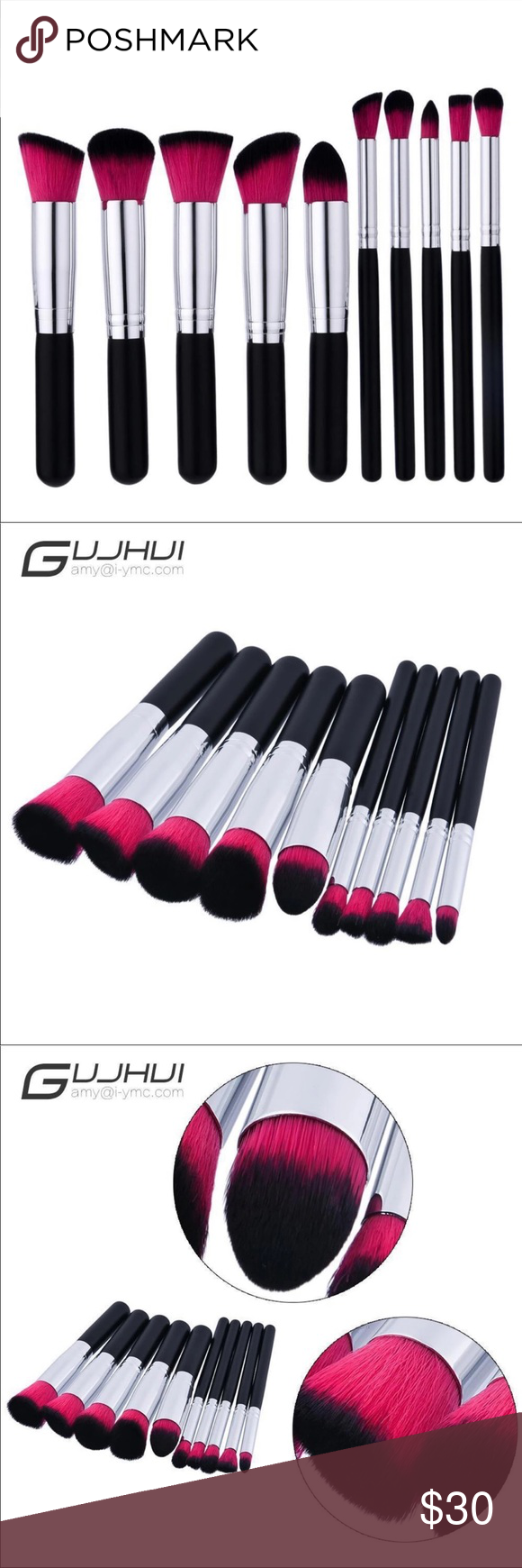 Photo of 10pcs Makeup Brush Set Professional Makeup Brush Set Brush Material …