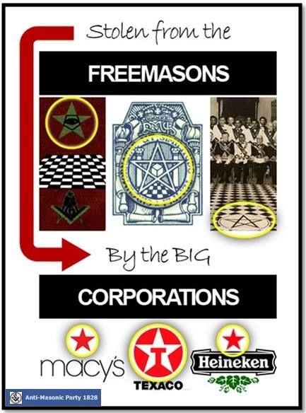 Masonic Star In Corporate Logos Macys Texaco Heineken