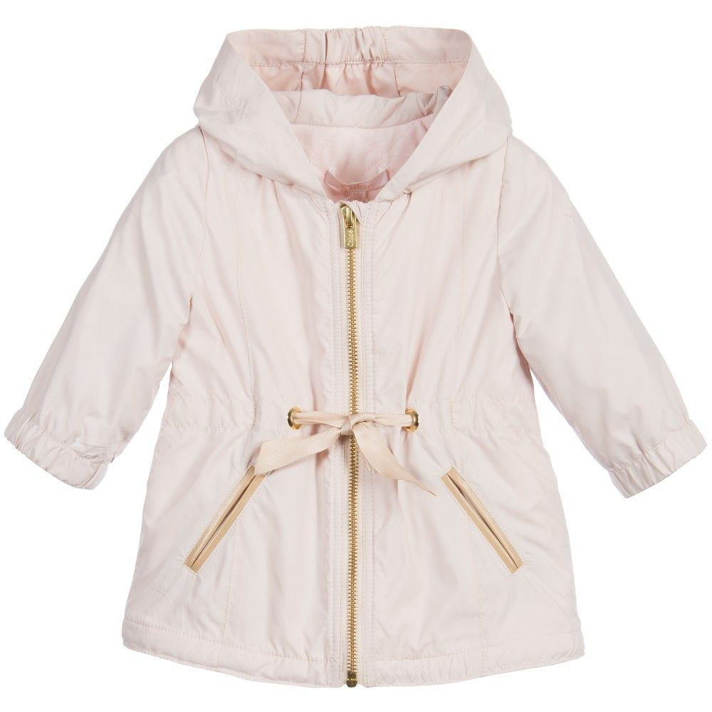 Baby girls, lovely pale pink lightweight coat by Chloé with a ...