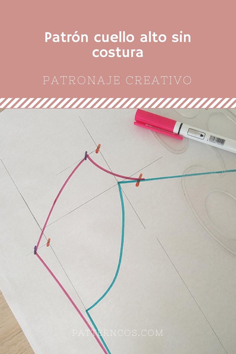 Cómo hacer el patrón de un cuello chimenea | Tutoriales paso a paso ...