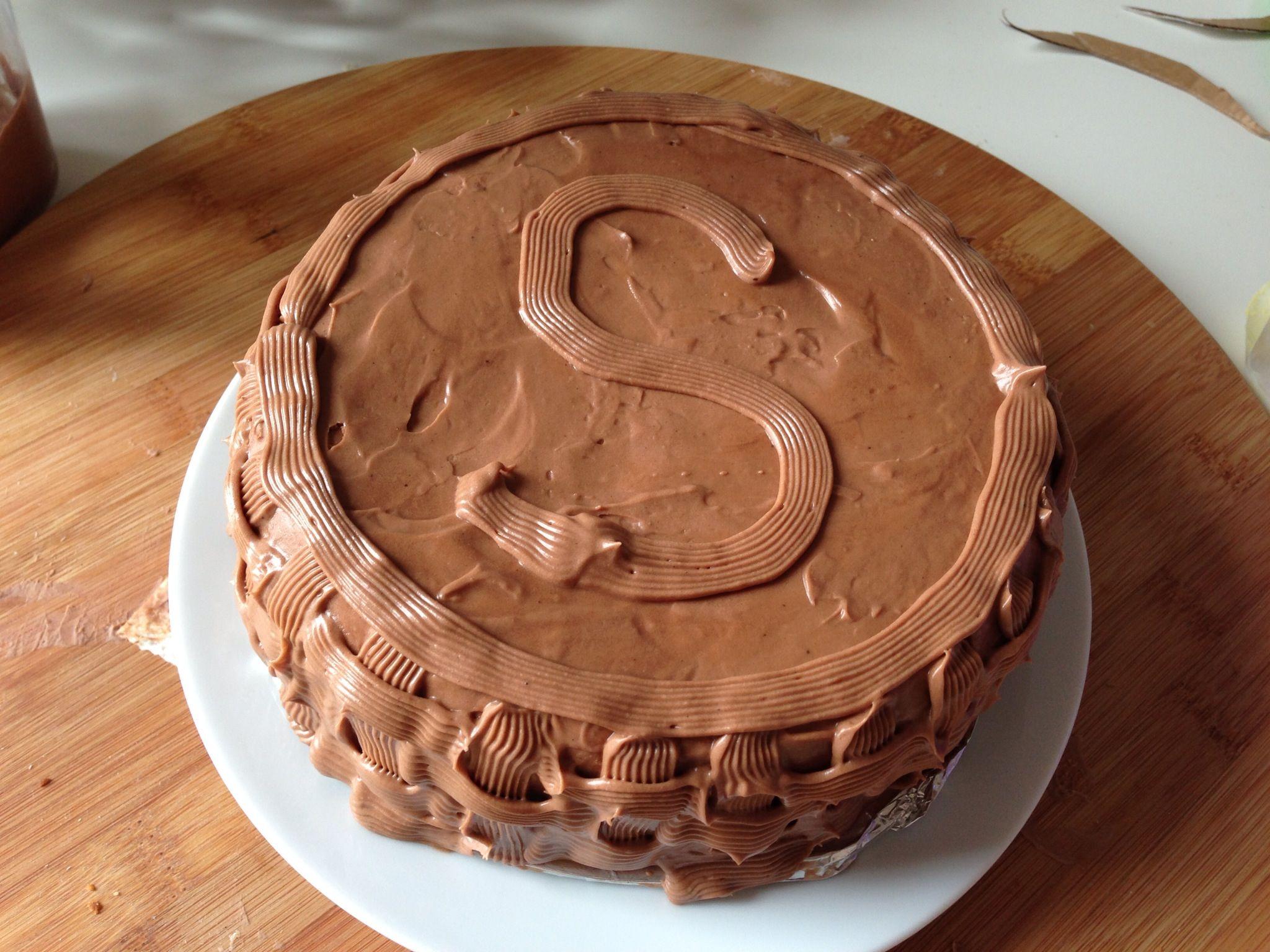 Sour cream chocolate cake. Fudgy delight. Happy birthday Sabah ...