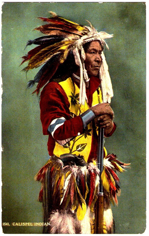 kalispel pend d u0027oreilles indian early 1900 postcard published