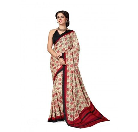 8bb184d333 Printed crepe saree with blouse piece. for Rs. 1049 only from  www.muhenera.com