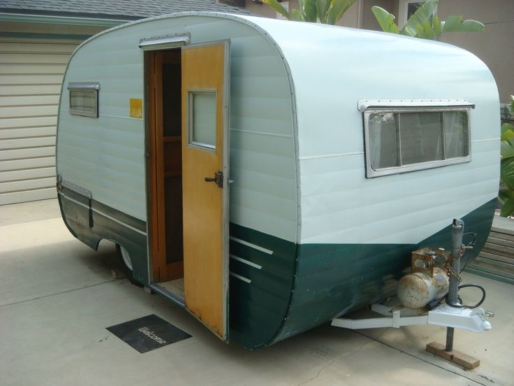 50 39 S 1955 Vintage Siesta Travel Trailer Old Canned Ham Camper