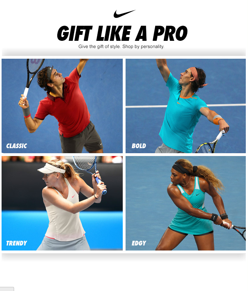 Give the gift of style. Shop by personality. Gift like a pro with Nike Gift Guide!