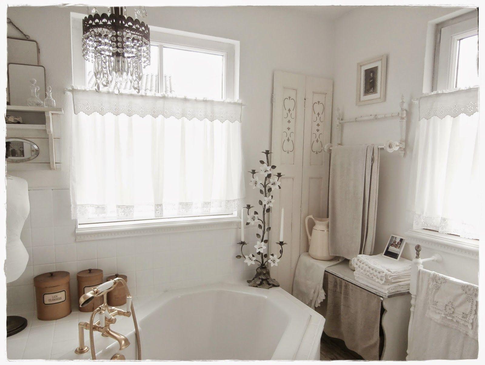 Shabby Landhaus Bad Gardinen Traumhafte Badezimmer Shabby Chic Dekoration