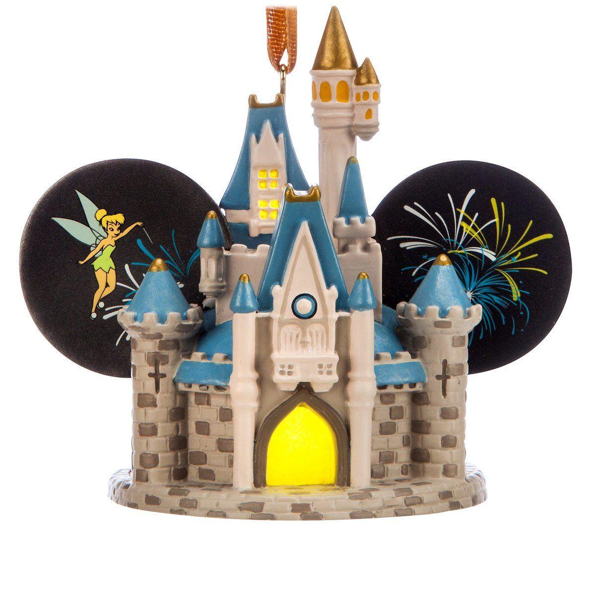Disney world cinderella castle lightup ear hat holiday christmas