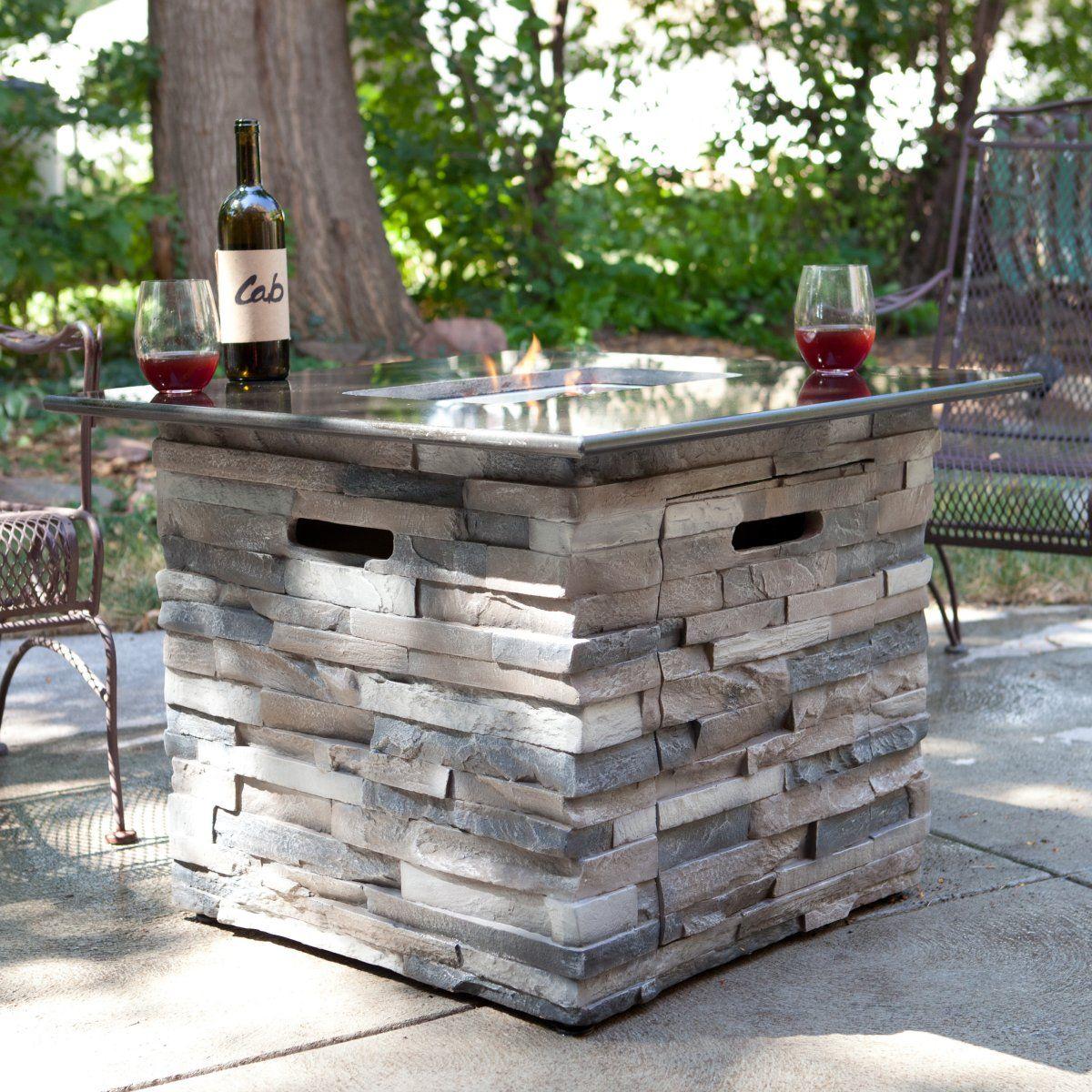 Coronado Black Granite Top Propane Fire Pit