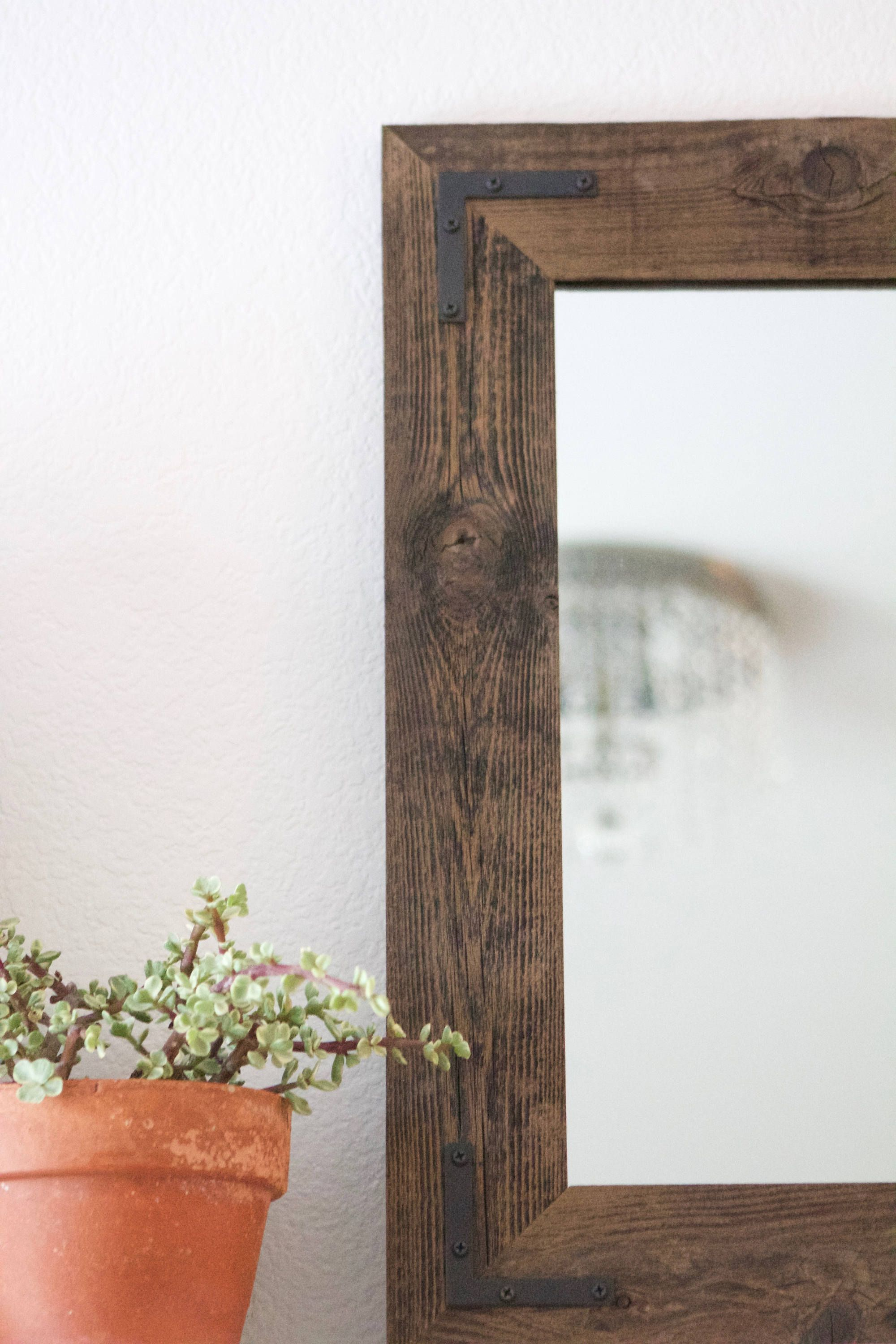 Small Mirror Wood Framed Wall